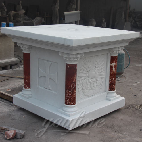 Church Decorative Small Religious Multi Color Marble Altar Table for Sale
