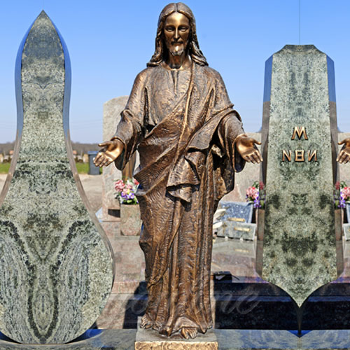 Custom Antique Bronze Statue Jesus with Open Arms Statue for garden