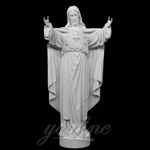Famous Outdoor Jesus Stone Statue Open Hand for church Decor