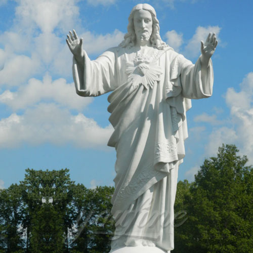 Famous Outdoor White Marble Stone Religions life size Jesus Statue for Church