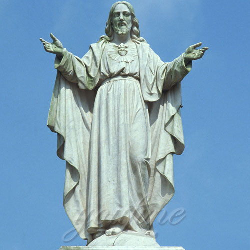 Garden Decor Jesus open hands Christ Marble Statue on Sale