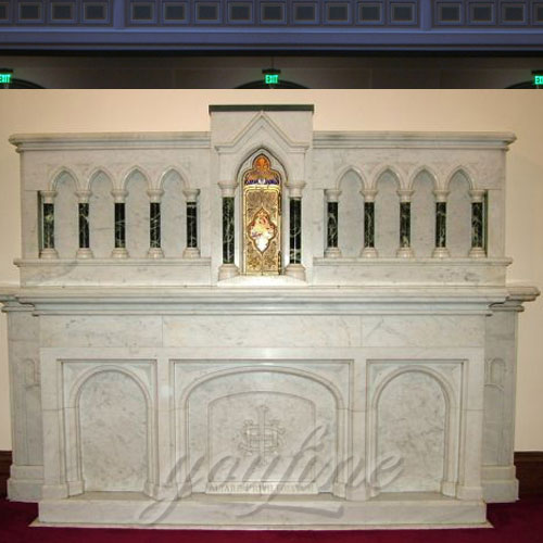 Large Church Decorative Custom Made Religious Marble Altar Table for Sale