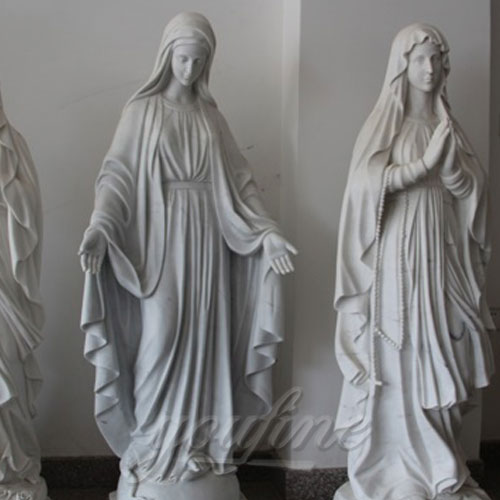 Hand Carved and Highly Polished Famous Religious Marble Mary with Different Positions