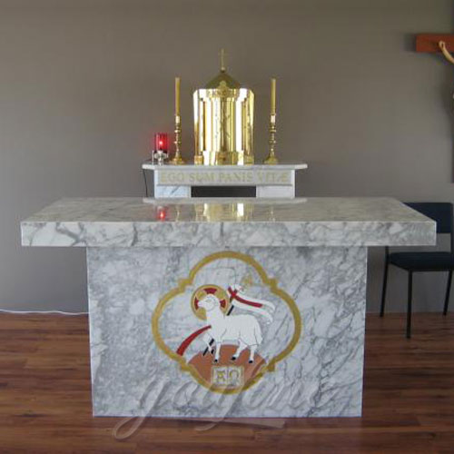 Hot Selling Grey Marble Church Altar sculpture from Factory
