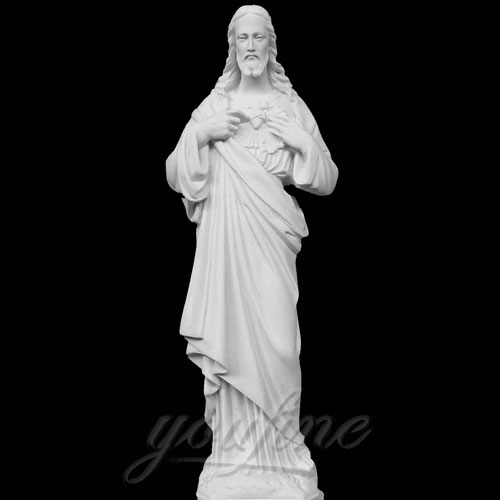 Hot Selling Religious Decorative Sacred Heart standing Jesus Statues for Church