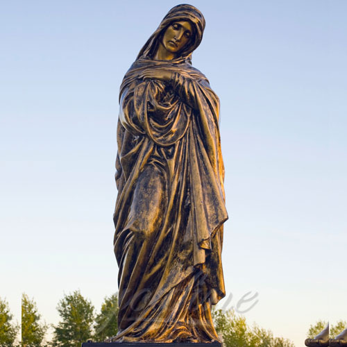 Hot sale price popular bronze life size virgin mary statue for sale