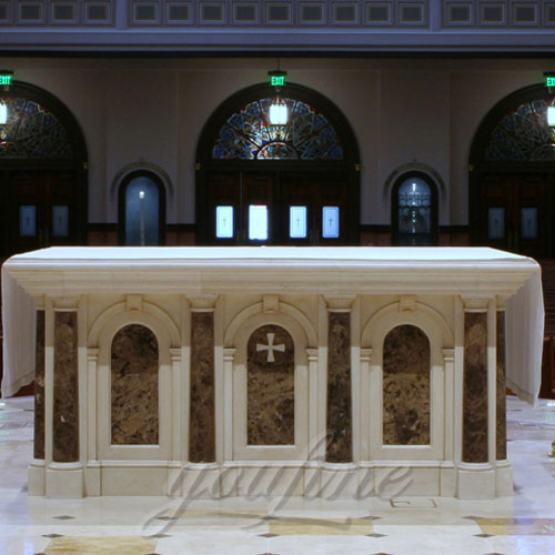 Indoor Large Multi Color Marble Altar Catholic for Church Decoration