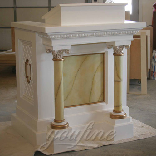Religious White Marble Pulpits for Sale Large Variety In Stock Now