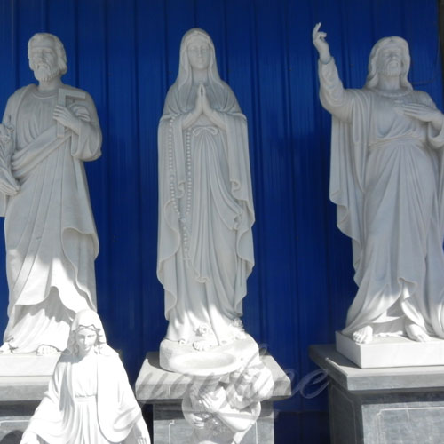 Natural Stone White Marble Religious Statue factory stock for Sale