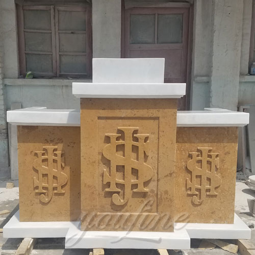 New Design Christian Religious natural marble pulpit for church