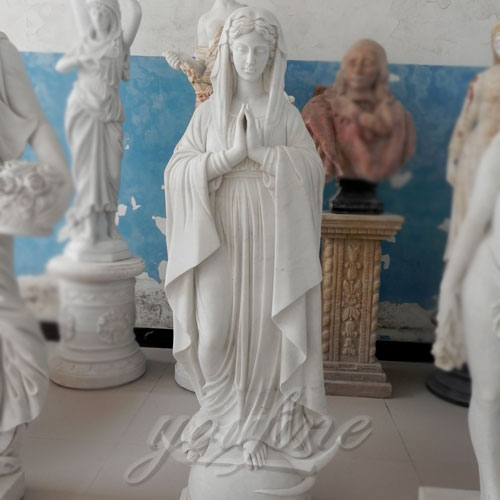 Blessed Natural Stone Virgin Mary Garden Statues For Outdoor Decor