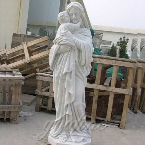 Outdoor Garden Sculpture Virgin Mary and Jesus Catholic Figures Statue for church decor