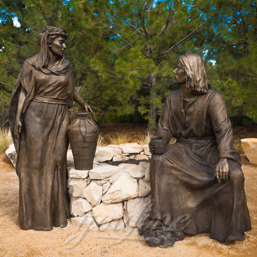 Outdoor Religious Bronze Figures Statue for Garden Decor
