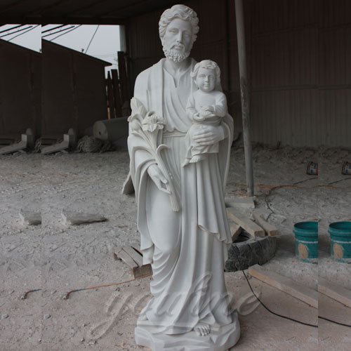 Park Decoration Life Size Jesus hold baby Carved Figures Sculpture