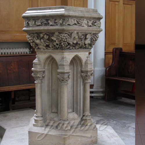 Religious Marble Font Church Furniture for Sale