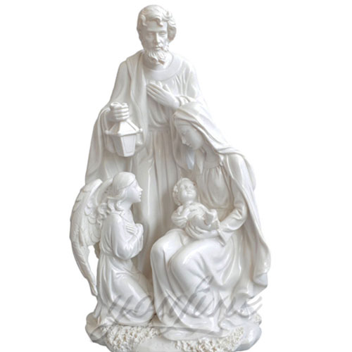 Indoor Statue Virgin Mary Marble Jesus Family Statues for Indoor Decor