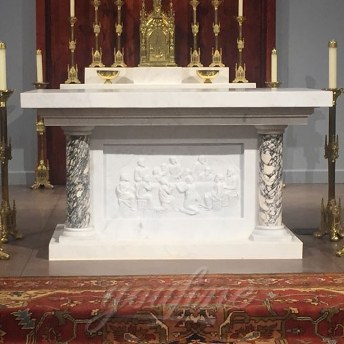 Wholesale Luxury White Marble Altar for Church decor