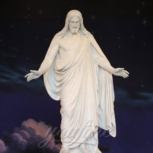 Wholesale Price Religious Hand Carved Church Jesus open hands Statue