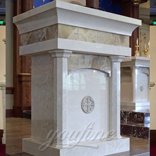 Wholesales Top Quality Hand Carved natural Marble Pulpit for Church Decor on Sale