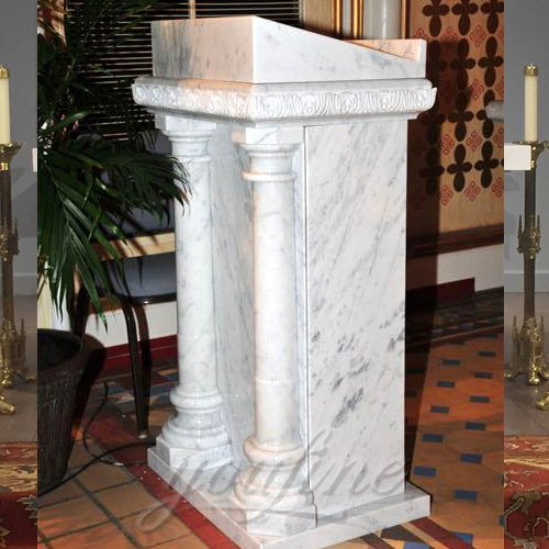 Wholesales White Natural Marble religious Pulpit for Sale