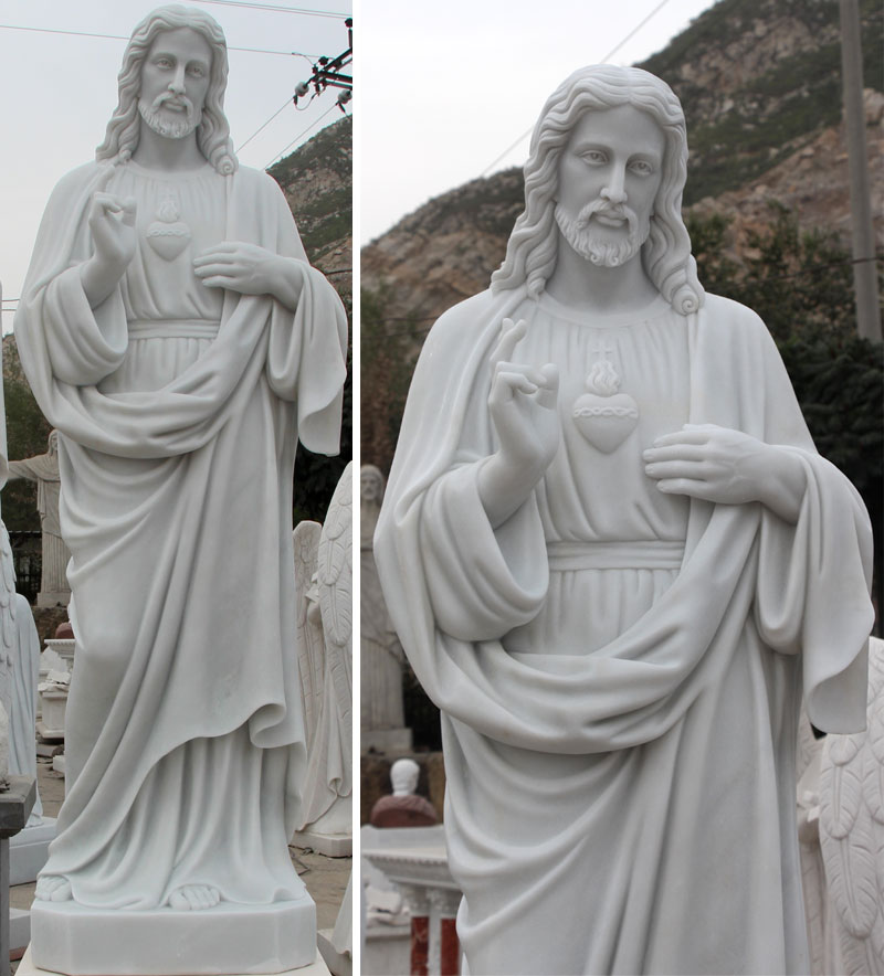 Life Size Sacred Heart of Jesus Christ Statue for sale