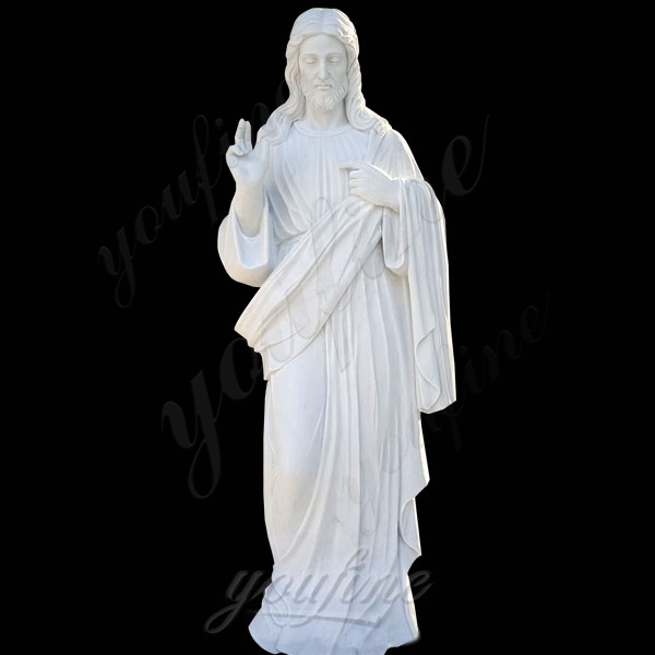 Catholic Religious Statue Jesus Christ Statue in White Marble for Sale CHS-297