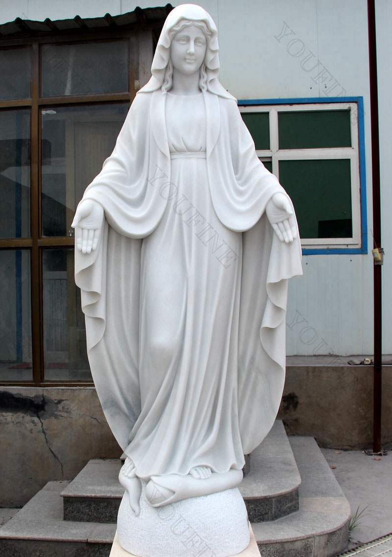 High Quality Marble Blessed Mother Statues for Outside Decoration for Sale