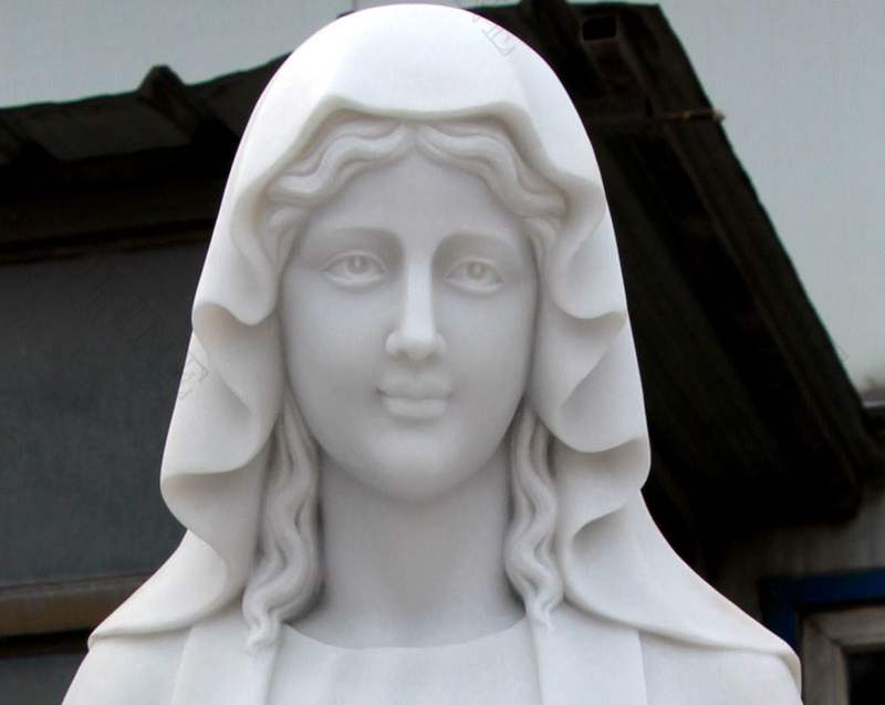 High Quality Marble Blessed Mother Statues for Outside Decoration