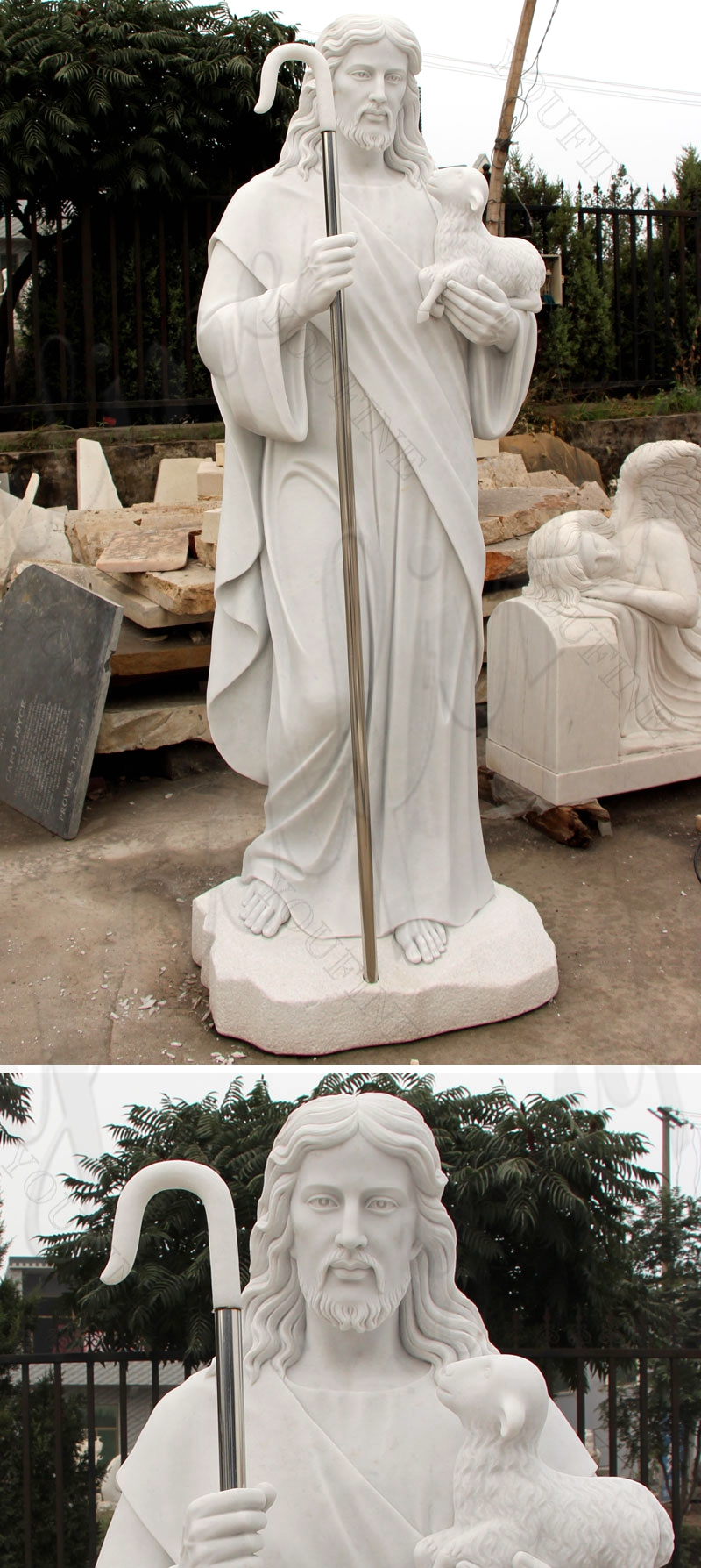Jesus Christ Shepherd Statue