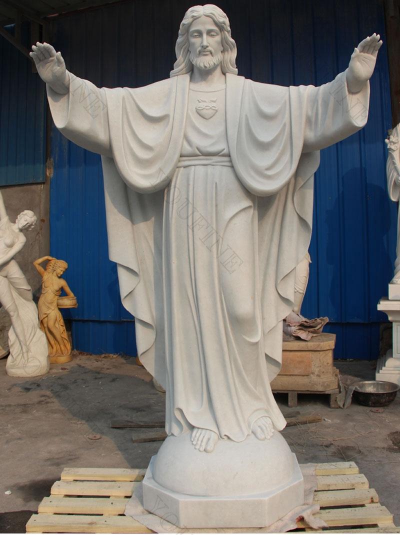 Jesus Christ White Marble Statue