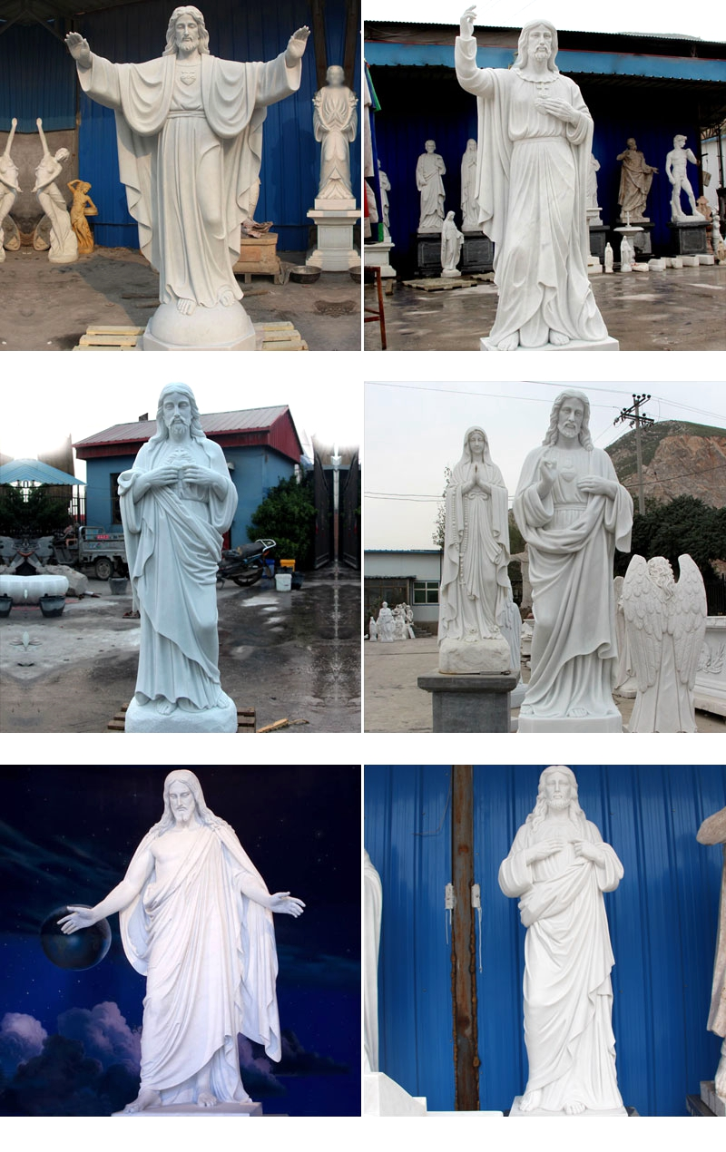 Jesus Christ White Marble Statues
