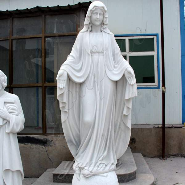 Marble Blessed Mother Statues for Outside Decoration