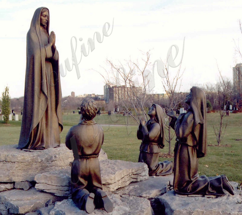 Our Lady of Fatima Mother and Three Shepherd Children statue