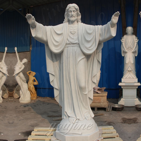 Life Size Religious Sculpture Jesus Christ White Marble Statue for Sale CHS-291