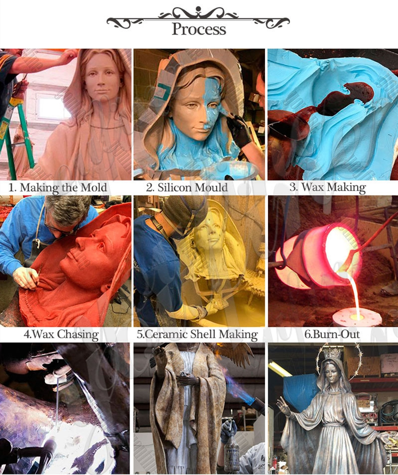 process of Our Lady of Fatima Mother and Three Shepherd Children