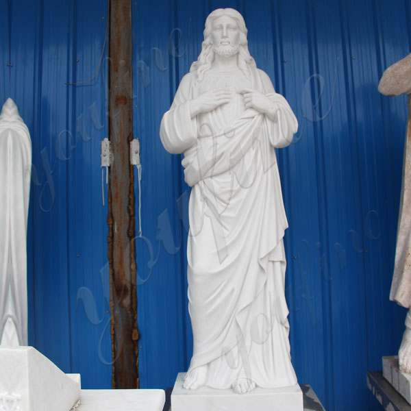 Classic Marble Life Size Jesus Statue Catholic Garden Sculpture
