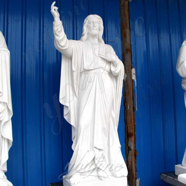 Classic Marble Life Size Jesus Statue in Meditation for Church Decor CHS-300