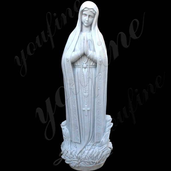 Life Size White Marble Our Lady of Lourdes Statue Stock for Garden