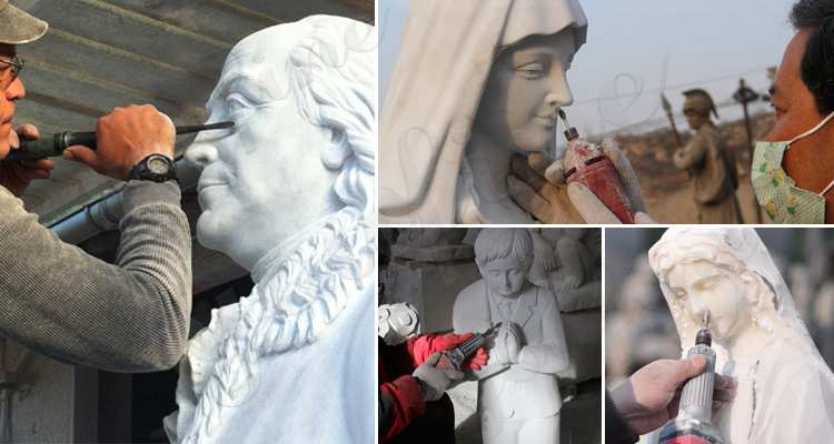 process of Classic Marble Life Size Jesus Statue