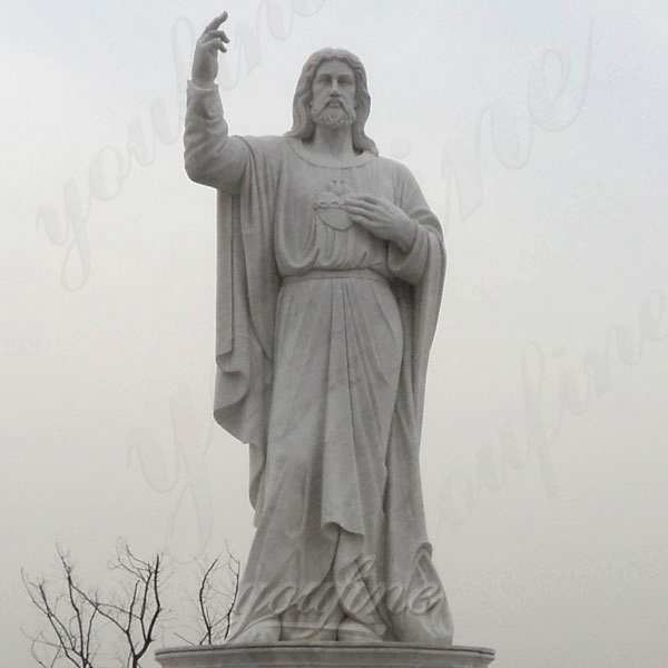 Classic Marble Life Size Jesus Statue Religious Garden Statue for Sale CHS-301