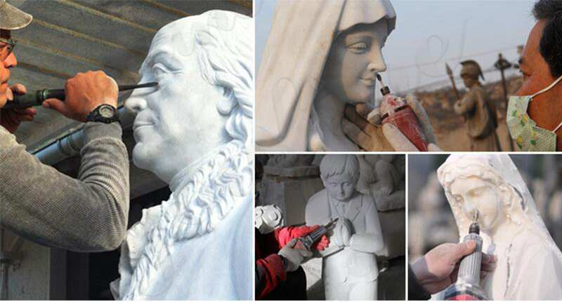 process of Blessed Outdoor Mother Mary Statue