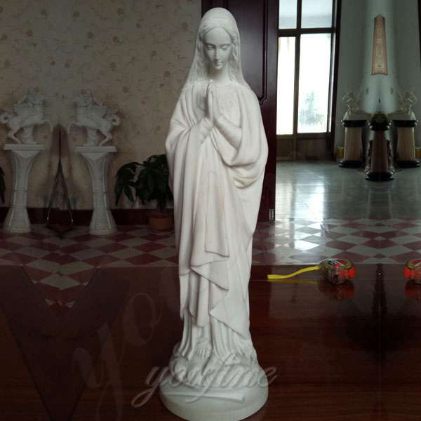 Catholic Virgin Mary Marble Statue for Garden Decor Supplier CHS-273