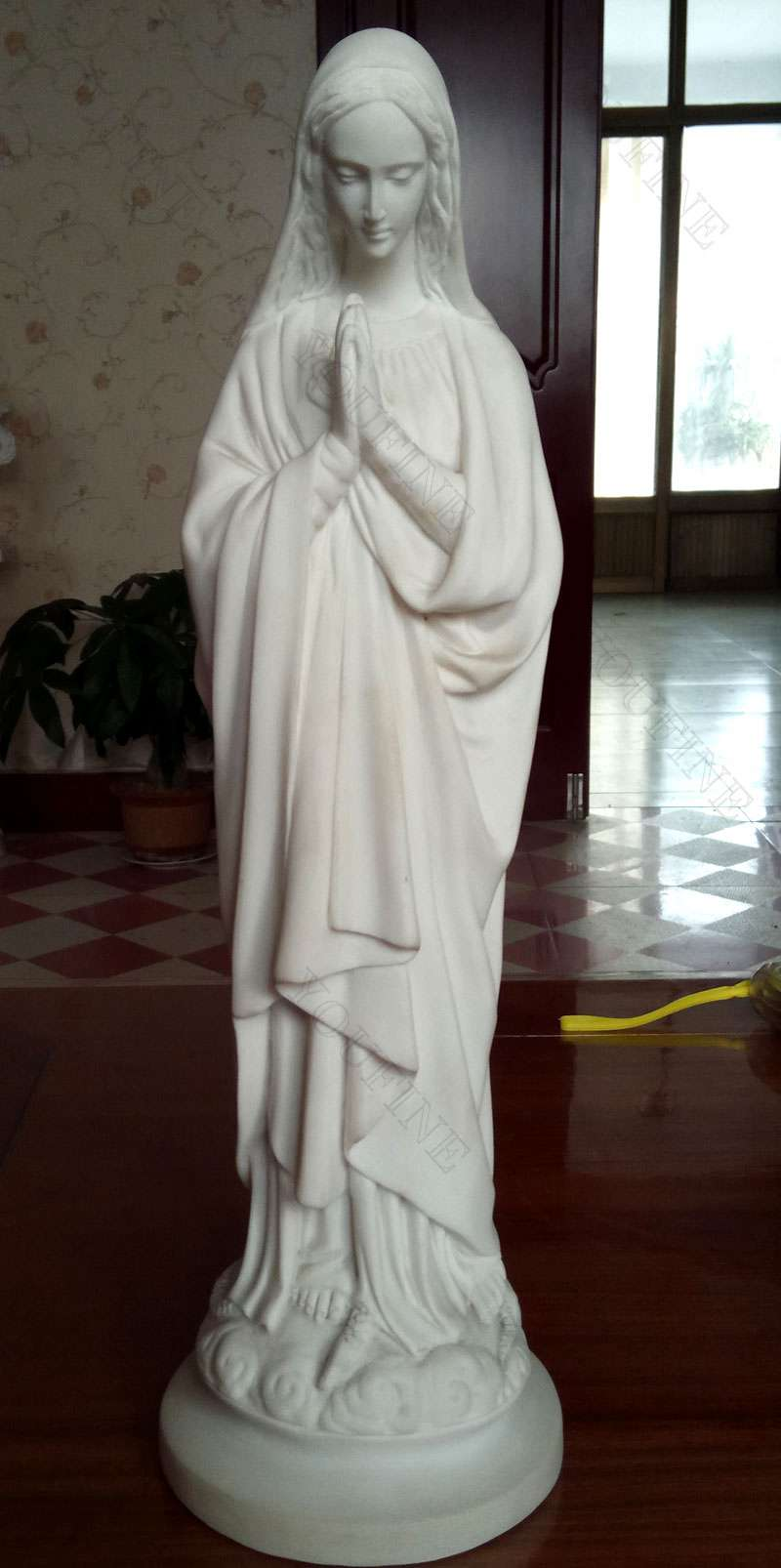 Catholic Virgin Mary Marble Statue for Garden Decor