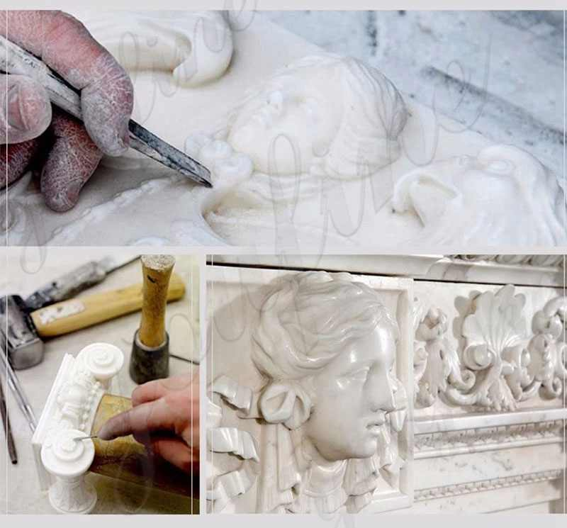 process of Catholic Virgin Mary Marble Statue