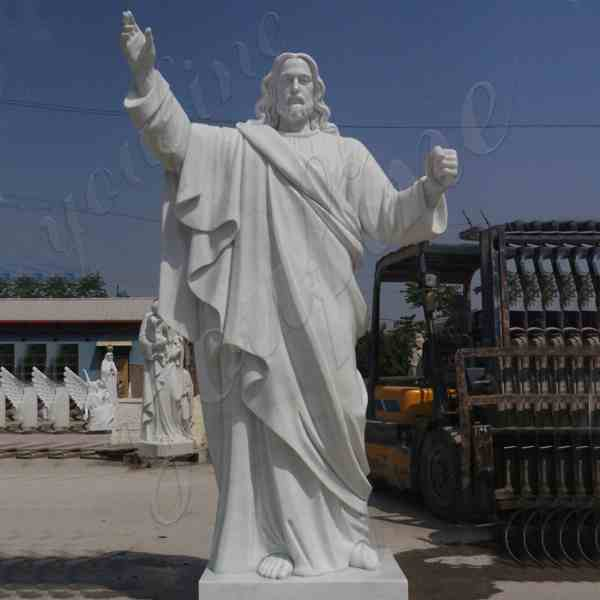 Catholic White Marble statues of Christ Jesus Making for Parish for Sale CHS-608