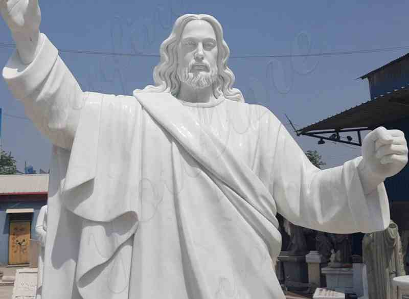 White Marble statues of Christ Jesus Making for Parish for Sale