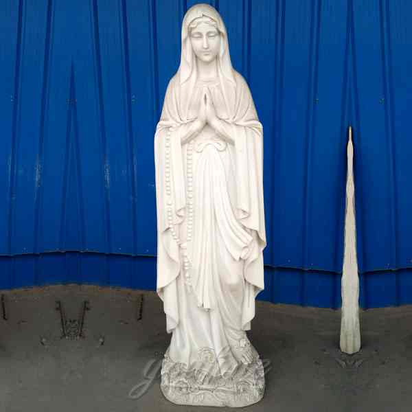 Life Size Blessed Virgin Mary Marble Statue for Church Decor Supplier CHS-274