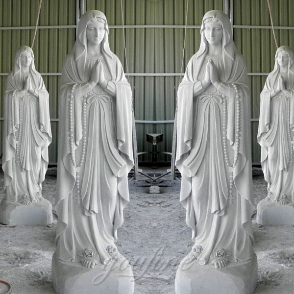 High Quality Catholic Our Lady of Lourdes Marble Statue for Sale