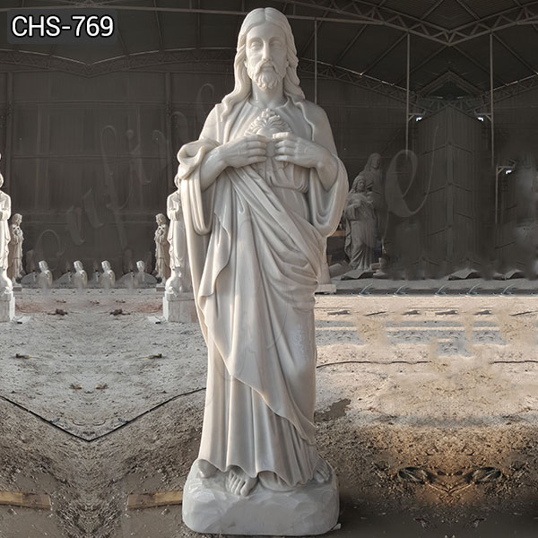 Full Size Marble Stone of Jesus Statue for Catholic Church Supplier CHS-769