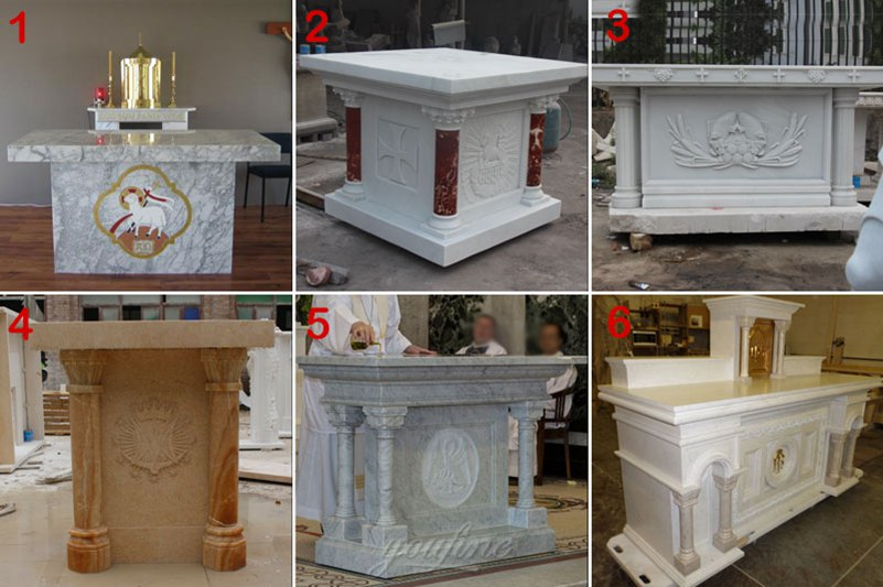 Life Size White Marble Pulpit for Church Decor